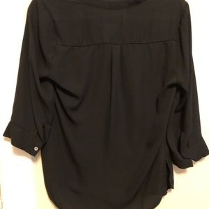 Black quarter sleeve blouse